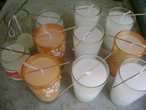 the candles i made