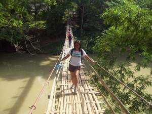 Hanging Bamboo Bridge