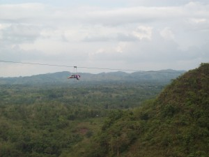 Zip-lining at Danao Adventure Park